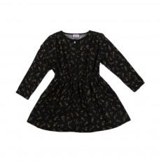 Robe Fleurs Anette Noir