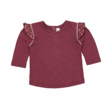 T-shirt Tête Dans Les Etoiles Bordeaux