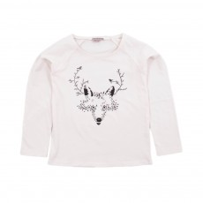 T-shirt Renard Rose pâle