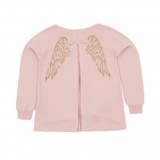 Pull  Ailes Massy Rose poudré