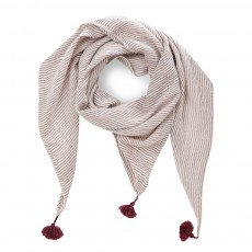 Foulard Triangle Pia Prune