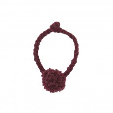 Bracelet Pompon Prune