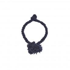 Bracelet Pompon Bleu nuit