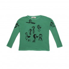 T-shirt Oiseaux Vert