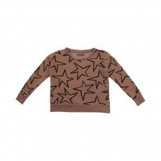 Sweat Etoiles Marron