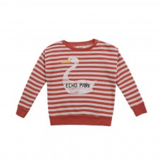 Sweat Canard Rayé Rouge