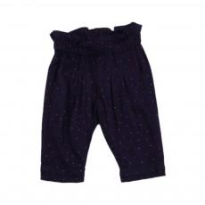 Pantalon Pois Ines Bleu marine