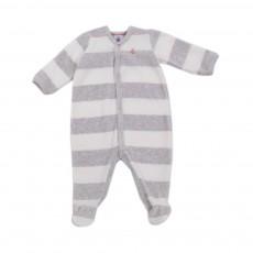 Pyjama Rayé Laitiere Base Velours Gris chiné