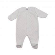 Pyjama Etoiles Larsen Base Velours Blanc cassé