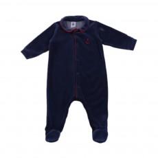Pyjama Ancre Lasting Base Velours Bleu nuit