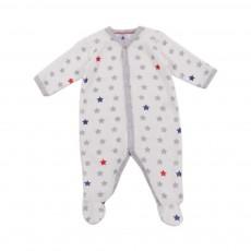 Pyjama Etoile Lateral Base Velours Blanc cassé