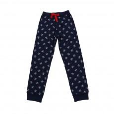 Pantalon De Pyjama Fleurs Luigi Bleu