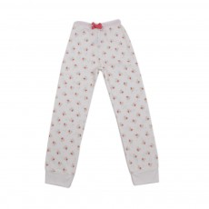 Pantalon De Pyjama Fleurs Luigi Blanc cassé