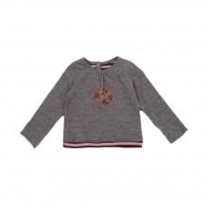 T-shirt Réversible Rayures  Fleurs Lila Multicolore