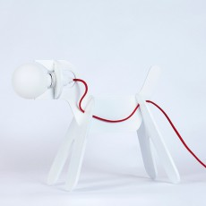 Lampe Get out dog - Blanc