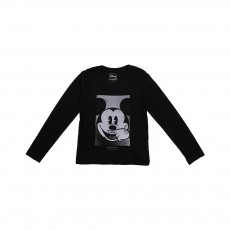 T-shirt Mickey LS Noir