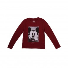 T-shirt Mickey LS Rouge cerise