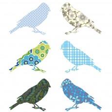 Stickers Oiseaux - Bleu