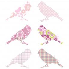 Stickers Oiseaux - Rose