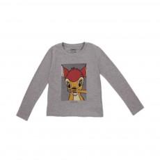 T-shirt Bambi Gris chiné