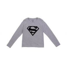 T-shirt Super logo Gris chiné