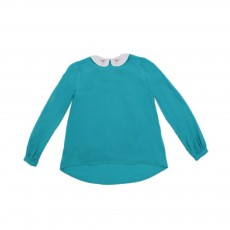 Chemise Maches Longues Champomy Bleu turquoise