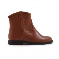 Boots Zip Cuir Pauline Camel