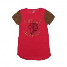 T-shirt Rock N' Roll Et Bonnet Rose fuschia
