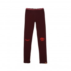 Leggings Pois Bordeaux