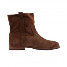 Boots Montantes Cuir  Marron