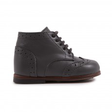 Bottines Lord Bout Fleuri Gris