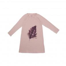 Chemise De Nuit Plume Rose chiné