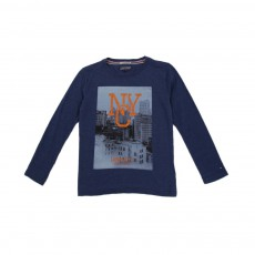 T-shirt Photo NYC Bleu marine