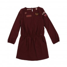 Robe Pois Bordeaux