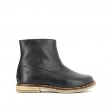 Boots Cuir Zippées Trip Noir