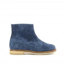 Boots Cuir Zippées Trip Bleu