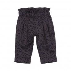 Pantalon léopard Ines Bleu marine