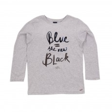 T-shirt The New Black Gris chiné