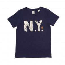 T-shirt N.Y Bleu marine