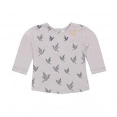 T-shirt Oiseau Rare Gris perle
