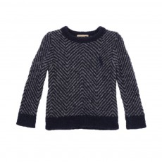 Pull Maille Bouclette Pike Bleu