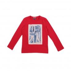 T-shirt Drapeau Rouge