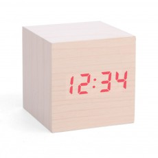 Horloge réveil LED bois