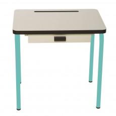 Bureau enfant Régine - Blanc/Bleu jade