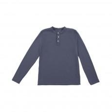 T-shirt Tunisien Henley Bleu gris