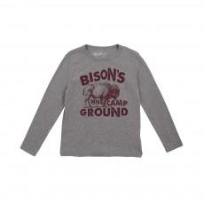 T-shirt Bison Gris