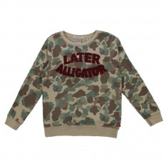 Sweat Camouflage Later Alligator Vert kaki
