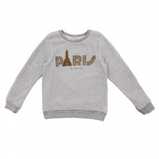 Sweat Paris Gris chiné