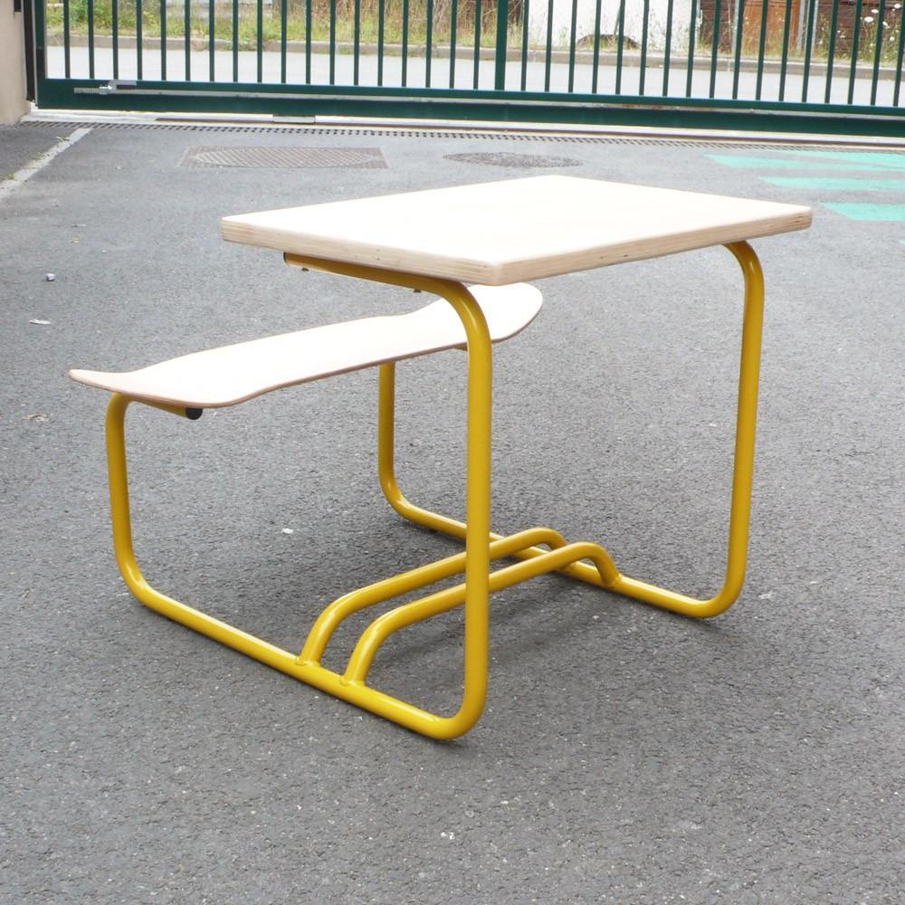Bureau skateboard jaune le ons de choses mobilier for Bureau jaune