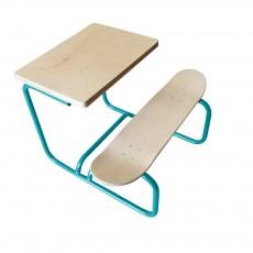 Bureau Skateboard Bleu canard